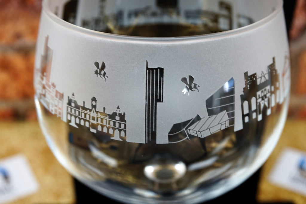 Manchester Skyline Gin Glass