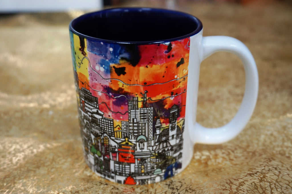 Manchester Skyline Mug - Colour