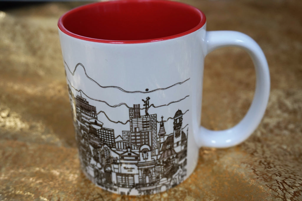 Manchester Skyline Mug - Black & White