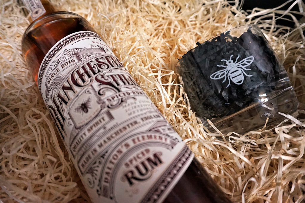 Manchester Still Rum & Glasses Gift Set