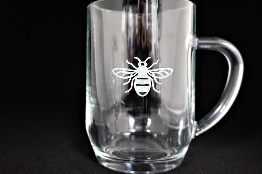 Manchester Bee Pint Glass Tankard