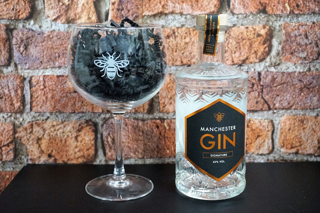 Manchester Bee Gin Glass