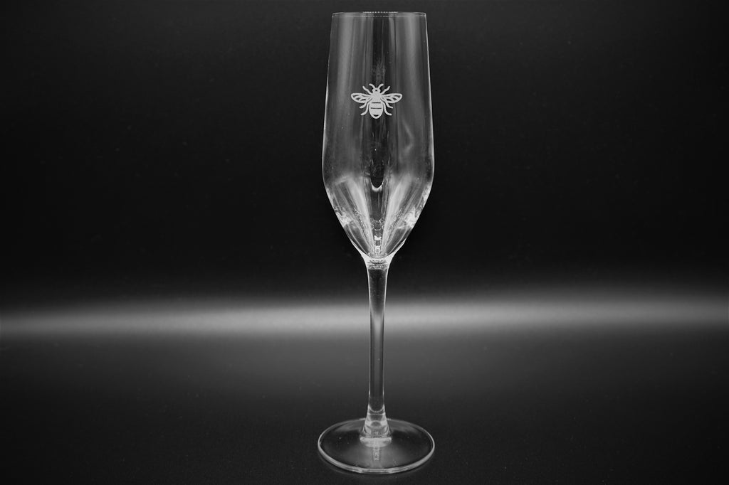 Manchester Bee Champagne Glasses Gift Set