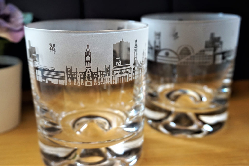 Whisky Glass - Manchester Skyline Tumbler