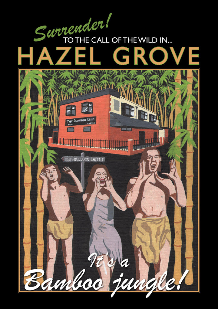 Retro Poster Art - Hazel Grove