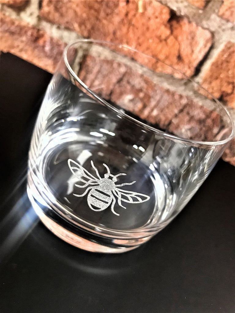 Manchester Bee Glass Tumbler