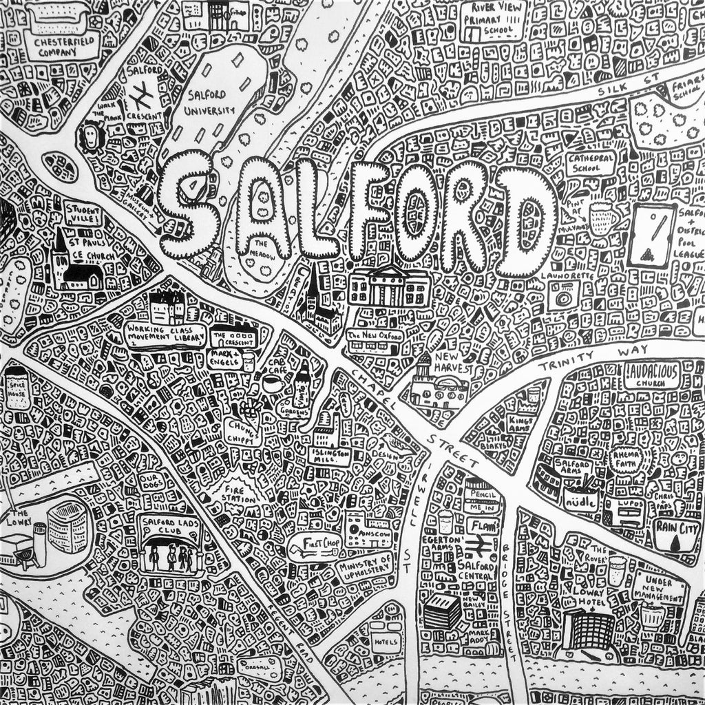 Doodle Map Salford