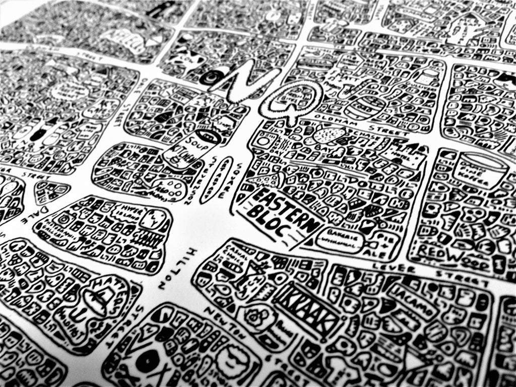 Doodle Map Northern Quarter Manchester