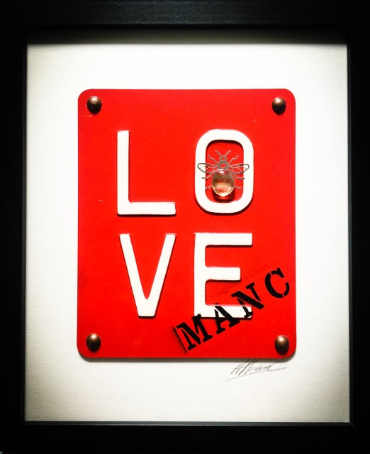 Manchester Love Glass Art - Manc Love