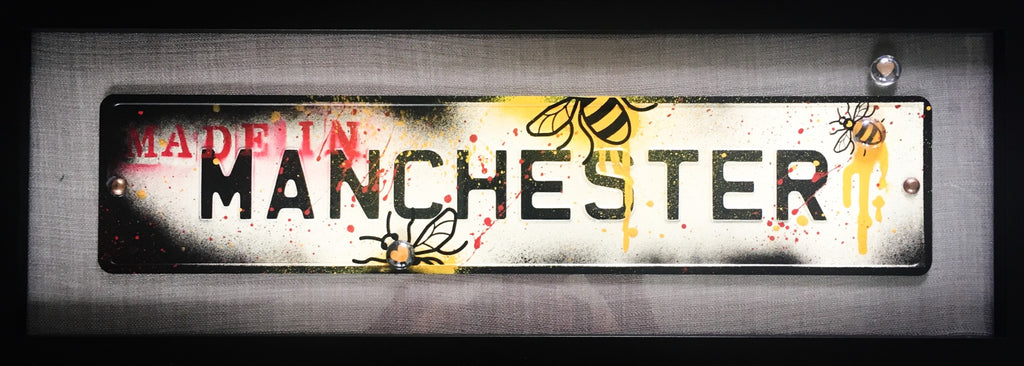 Street Sign Art - Made In Manchester