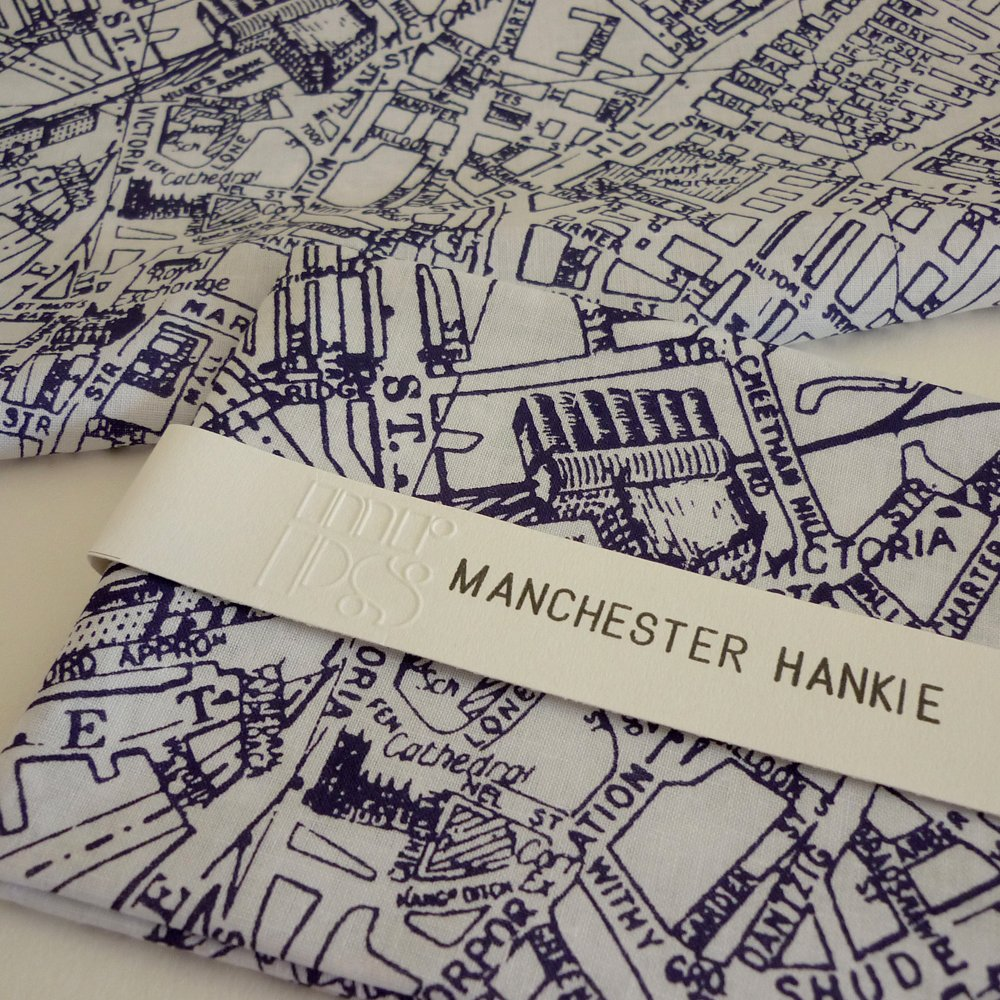 Manchester Map Handkerchief