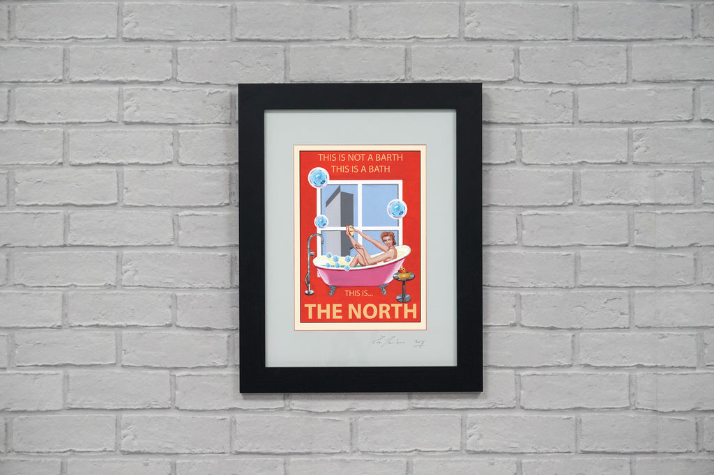 Retro Poster Art - This is The North - Red Version