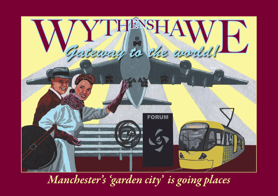 Retro Poster Art - Wythenshawe