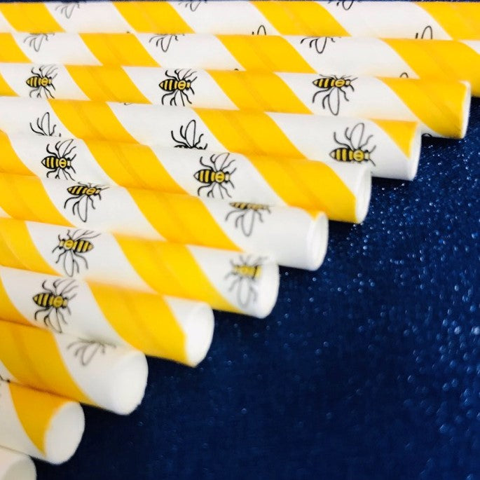 Manchester Bee Paper Straws - 250
