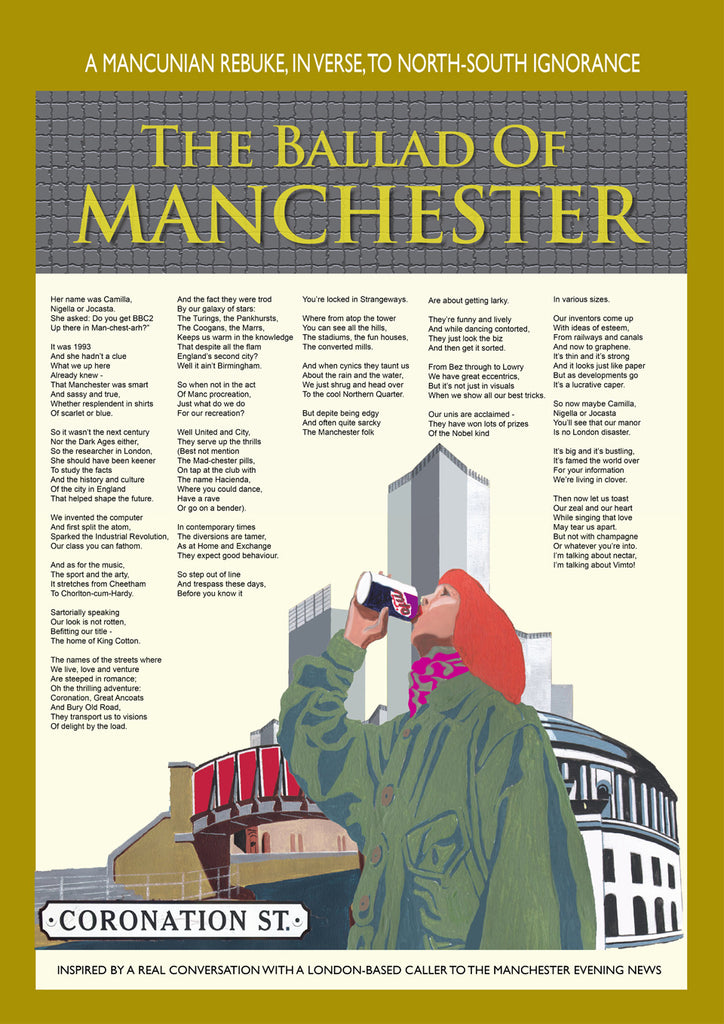 Retro Poster Art - The Ballad of Manchester