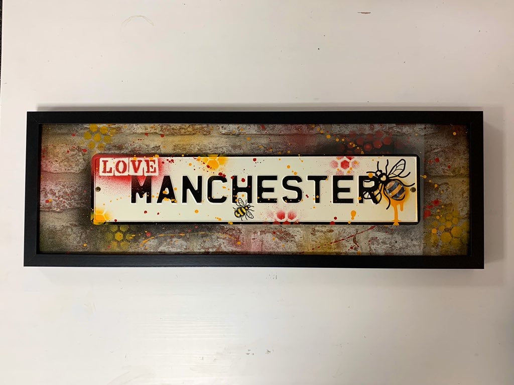 Street Sign Art - Love Manchester