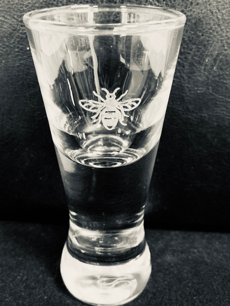 Manchester Bee Tall Shot Glass