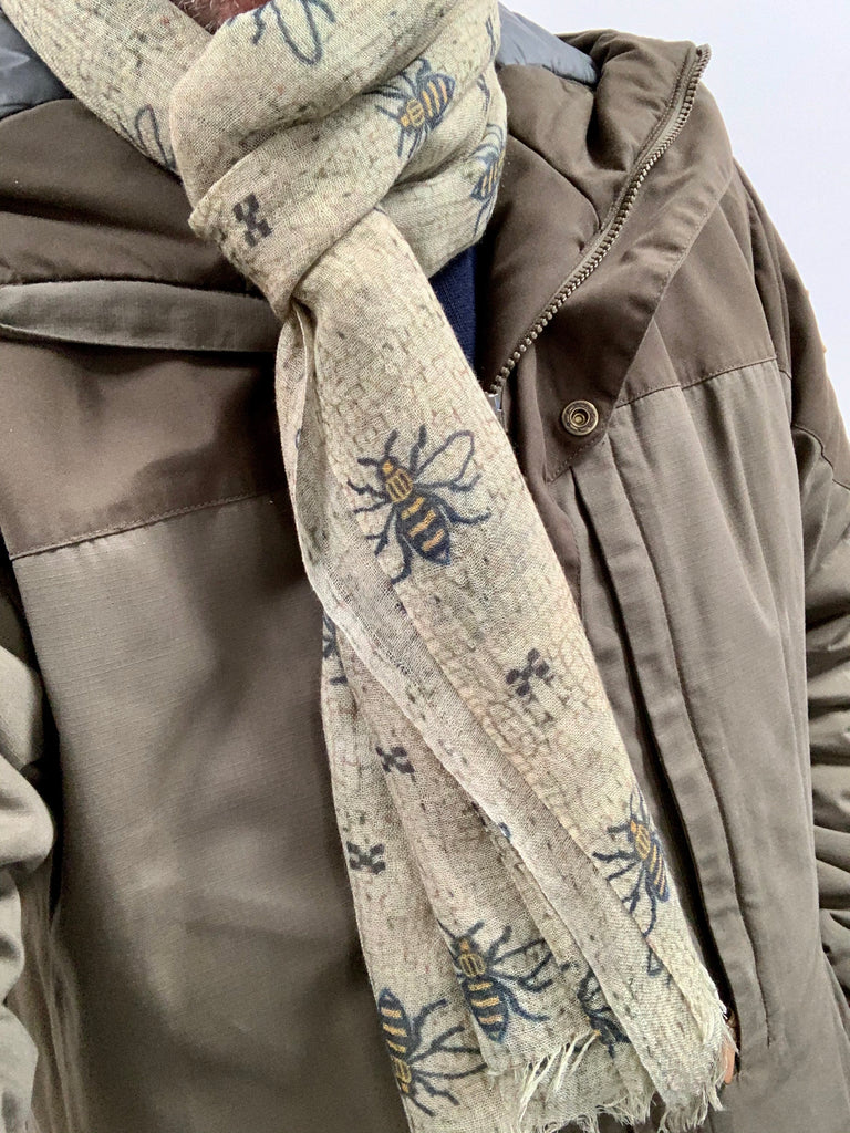 The Manchester Bee  - 100% Wool Scarf