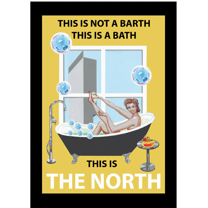 Retro Poster Art - This is The North - Yellow Version
