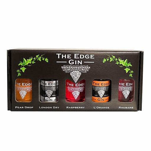 The Edge - Gift Box - Set 0f 5 Gin and Gin Liqueurs