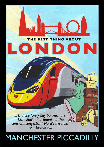 Retro Poster Art - London to Piccadilly