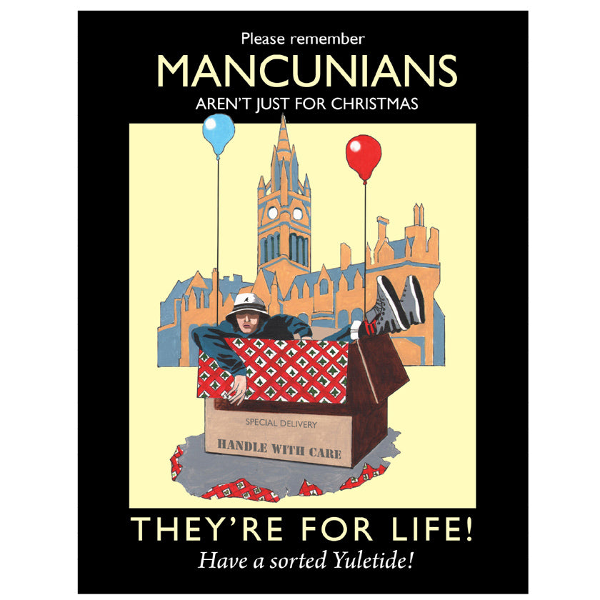 Mancunian Christmas Card (pack of 5)