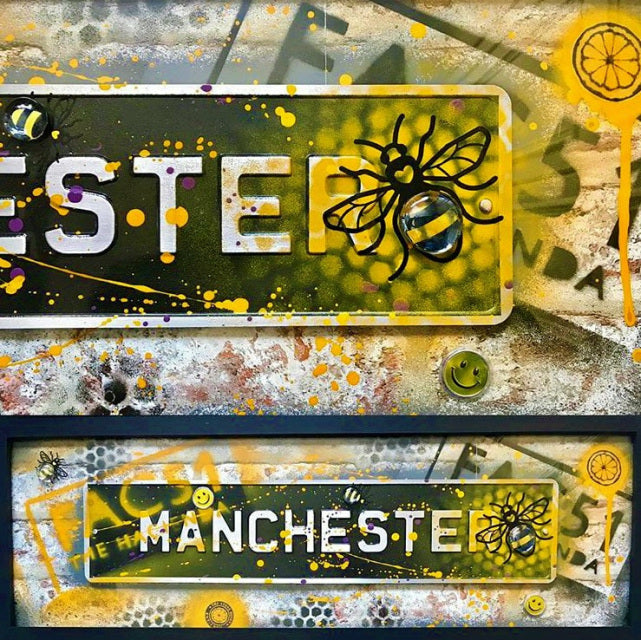 Street Sign Art - Hacienda Fac51 Black