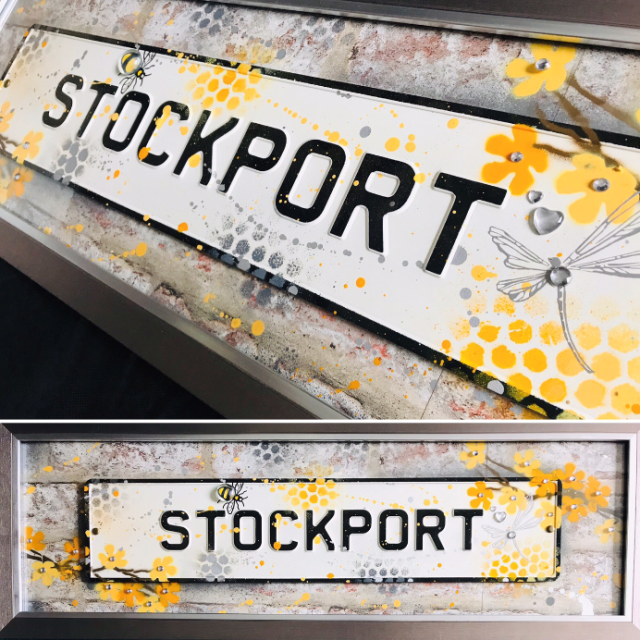 Street Sign Art - Stockport Lemon Blossoms