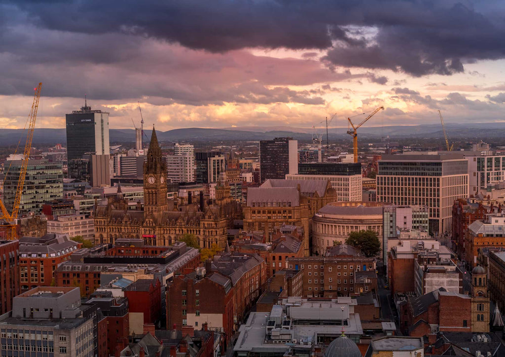 Manchester cityscape - Sunset