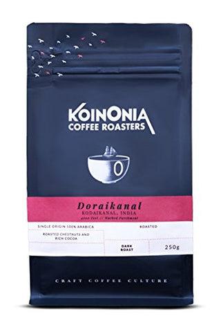 Koinonia Coffee Roasters Doraikanal Estate Arabica (Dark Roast) Espresso 250 Gms