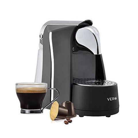 VERO Infuso (Black) | Coffee Capsule Machine | Single Serve Espresso Maker | Nespresso Compatible