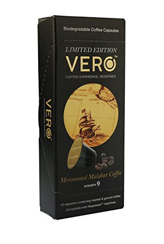 Limited Edition Vero Coffee Capsules - Monsooned Malabar - 10 Capsules