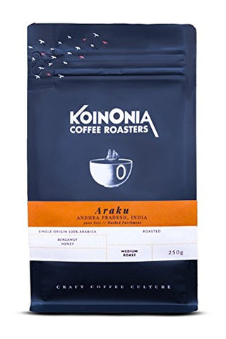 Koinonia Coffee Roasters Araku Valley Arabica (Medium Roast) Electric Brewer 250 Gms