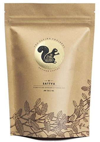 Flying Squirrel Sattva 100% Organic Coffee Beans Powder (Fine Grind-250 Grams)