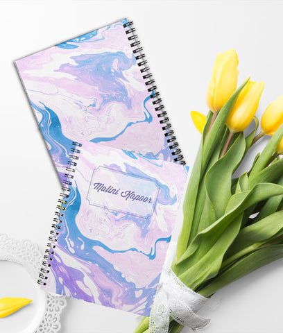 Purple Marble | Printed Notebook