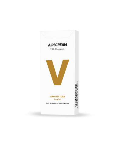 AIRSCREAM AirsPops Cartridge (2 Pods) - Virginia Toba - Australia Vape Company