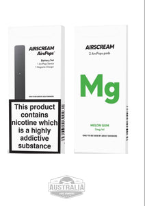 AIRSCREAM AirsPops Starter Kit (with Melon Gum Pods Pack) - NEW LOOK