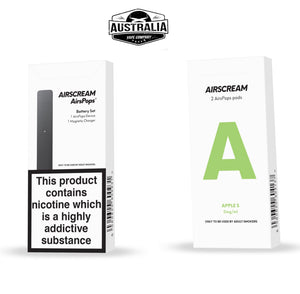 AIRSCREAM AirsPops Starter Kit (with APPLE S Pods Pack) - Australia Vape Company