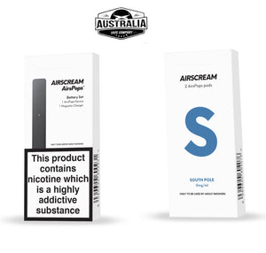 AIRSCREAM AirsPops Starter Kit (with South Pole Pods Pack) - Australia Vape Company