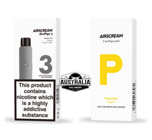 AIRSCREAM AirsPops 3 Starter Kit (with PIÑA KING Pods Pack) - Australia Vape Company