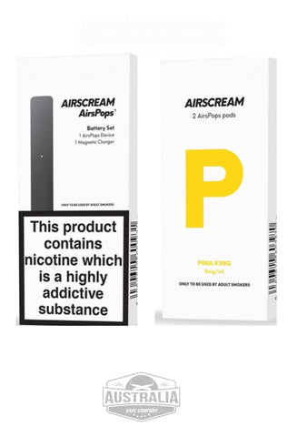 AIRSCREAM AirsPops Starter Kit (with PIÑA KING Pods Pack) - NEW Design
