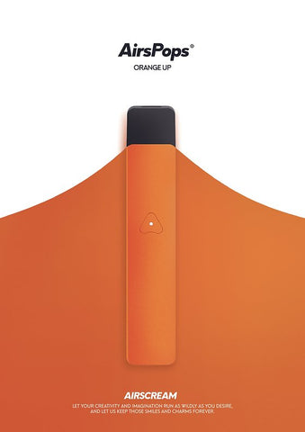 AirsPops Battery Set - Metalic Orange (limited edition) - Australia Vape Company