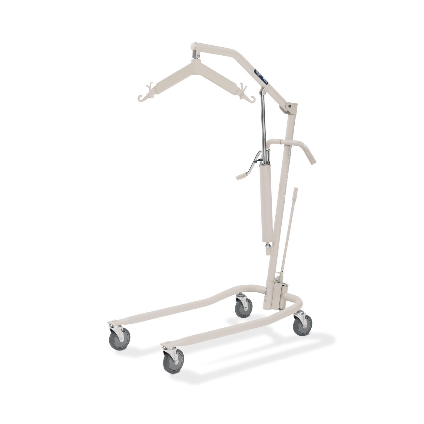 hydraulic power lift reducing physical effort when carrying the patient's weight