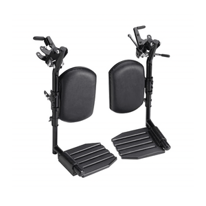 Invacare Wheelchair Elevating Legrests, Composite Footplates, Padded Calf Pads - Sold as Pair (T94AC) - sold by Dansons Medical - Wheelchair Footrests manufactured by Invacare