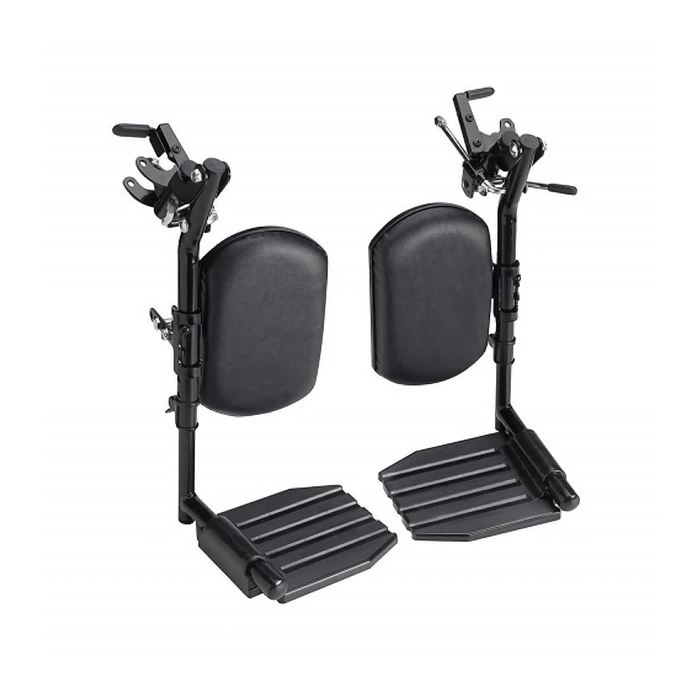 Invacare Wheelchair Elevating Legrests, Composite Footplates, Padded Calf Pads - Sold as Pair (T94AC)