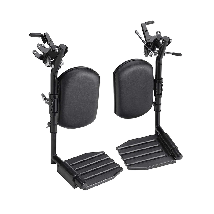 Invacare Wheelchair Elevating Legrests, Aluminum Footplates, Padded Calf Pads - Sold as Pair (T94HAP)
