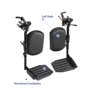 Invacare Wheelchair Elevating Legrests, Aluminum Footplates, Padded Calf Pads - Sold as Pair (T94HAP) - sold by Dansons Medical - Wheelchair Footrests manufactured by Invacare