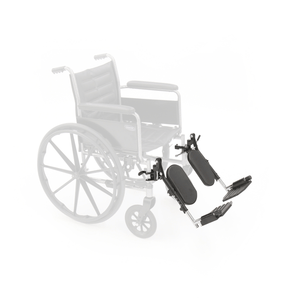 Invacare Wheelchair Elevating Legrests, Composite Footplates, Non-Padded Calf Supports - Sold as Pair (T94HEP) - sold by Dansons Medical - Wheelchair Footrests manufactured by Invacare
