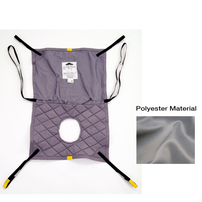 Hoyer Long Seat Polyester Sling w/ Commode Opening