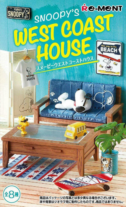 mo-15 RE-MENT SNOOPY'S WEST COAST HOUSE BOX products JYAPAN OFFICAL